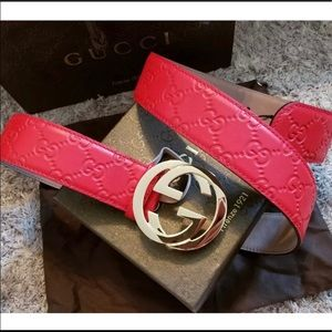 a7331f1ee5c Gucci Accessories - Authentic Red Men s Guccissima Belt